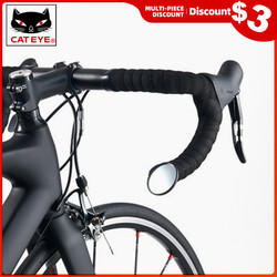 CATEYE Bicycle Mirror Road MTB Cycling Rearview Mirror Bicycle Handlebar Rearview Mirror Rotate Ultralight Safe Bike Accessories