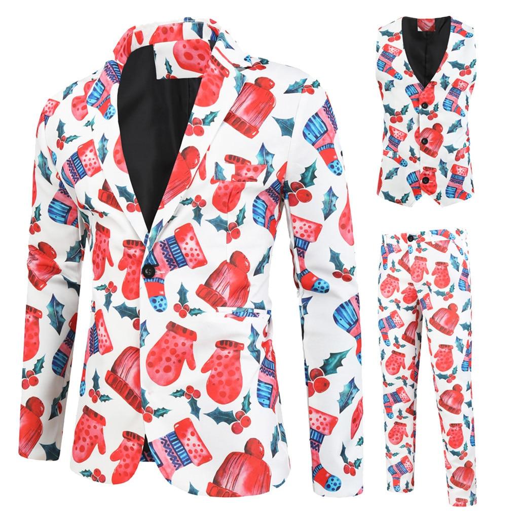 Brand Men Suit Wedding Suits For Men 3 Pieces Slim Fit Suit Mens Christmas Tuxedo Jacket Costume Homme   11.15