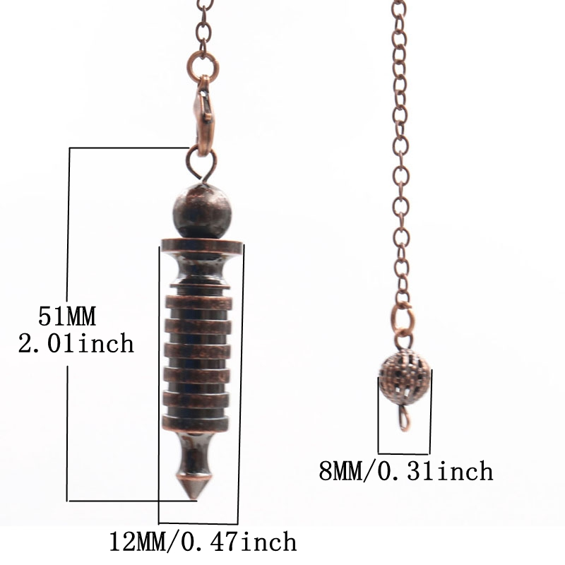 Metal Pendulums for Dowsing Divination Reiki Healing Spiritual Wicca Women Men Amulet Screw Shape Pendule Chains Charm Jewelry 2