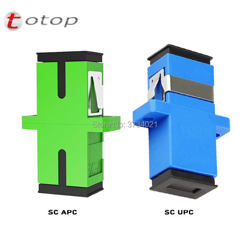 400 Pieces SCUPC SCAPC Fiber Optical Adapter SM Single Mode Simplex For Fiber Patch Cord, Fiber Pigtail, Connector