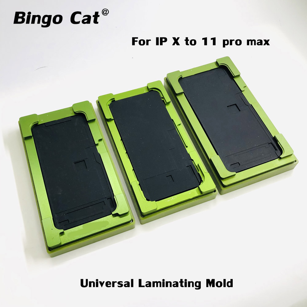 2 in 1 Universal Laminating Mold for iPhone 11 pro max XR X XS max OCA Glass LCD Touch Screen Alignment Mould Glue Location Mat