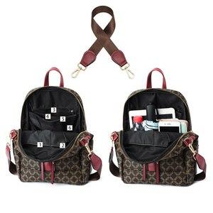 Image 4 - Sac à dos en cuir pour femmes, sacoche de styliste à épaule de marque, sacoche de voyage de luxe pour filles, 2020