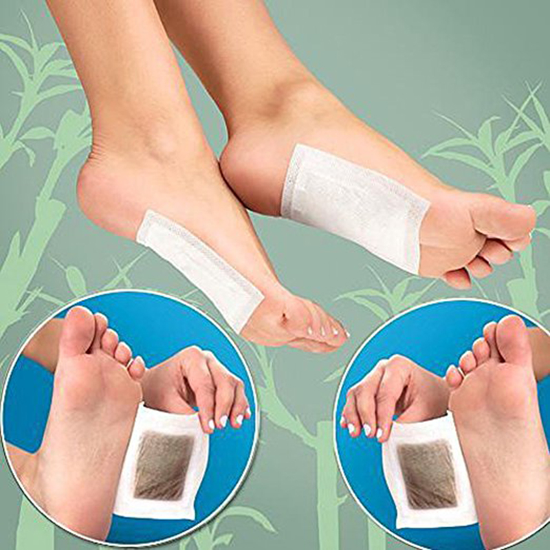 10pcs / Bag Slimming Foot Patches Detox Foot Patch Mask Relieve Fatigue Remove Toxin Foot Help Sleep Skin Care Pads Sticky TSLM1