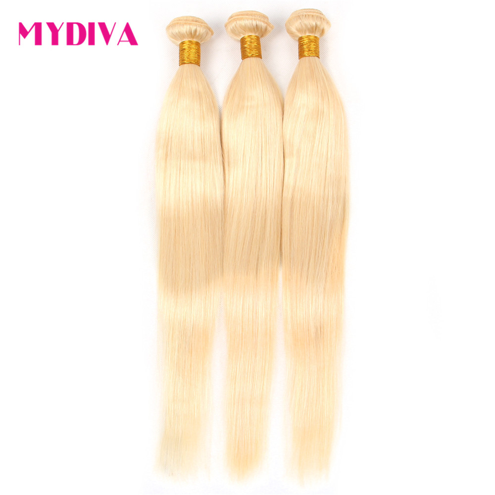 Hdb2fd99c1353463abe669b4fefc3b51ep 613 Blonde Bundles With Closure Brazilian Straight Hair Bundles With Closure Remy Human Hair Weave Extenstions 10-30 Inch Bundle