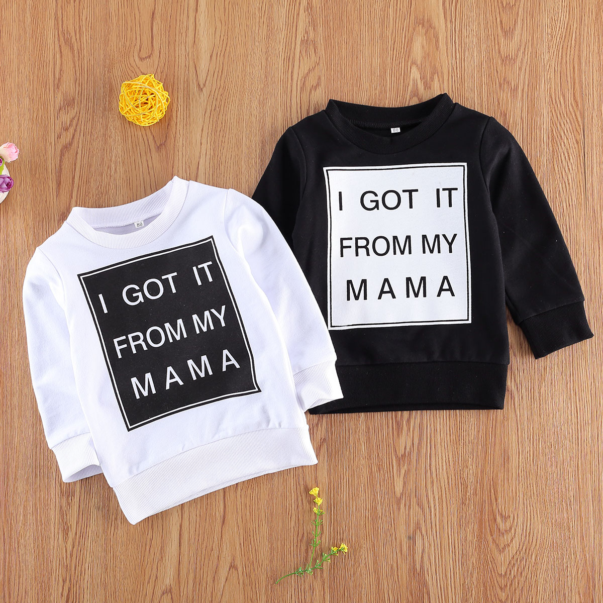 2020 infant toddler Newborn Long Sleeve Letter Print Top Fashion Long Sleeve Tops for Baby Girls Boys casual clothing  outfits