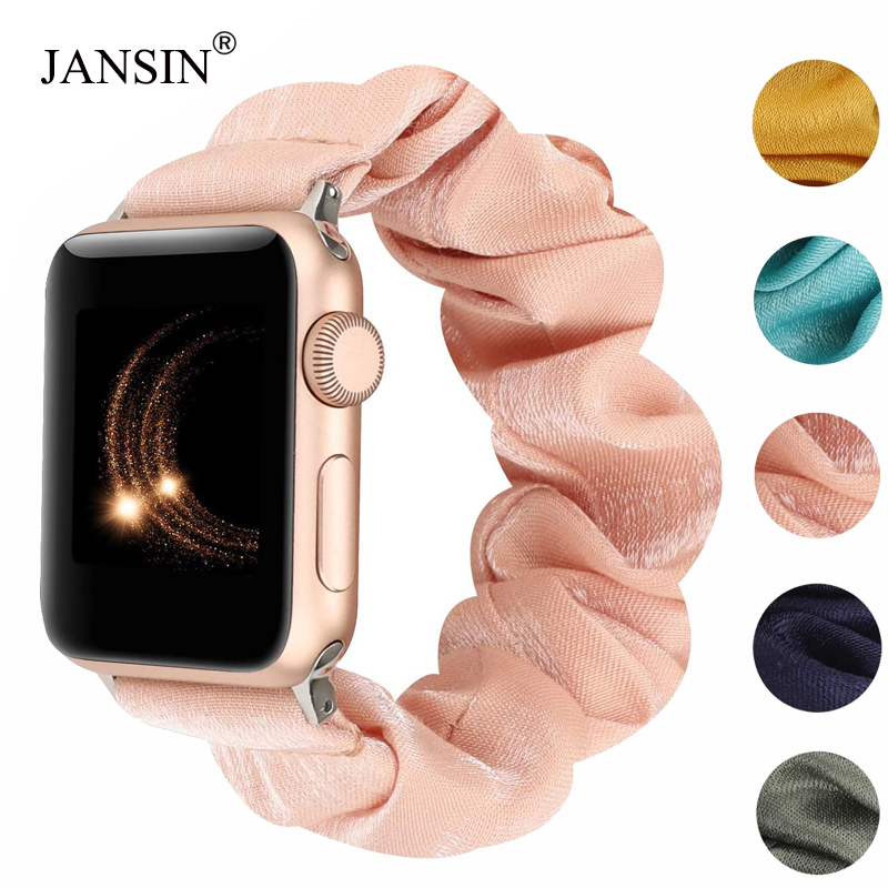 75 Styles Scrunchie Elastic Strap For Apple Watch Band 38mm 42mm 40mm 44mm Bracelet Belt Women Watchband Sport Loop For Iwatch