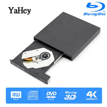 Bluray Player External USB 2.0 DVD Drive Blu-ray 3D 25G 50G BD-R BD-ROM CD/DVD RW Burner Writer Recorder for Laptop Computer PC(China)