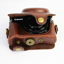 Retro Camera Case for Canon PowerShot G7 X Mark II G7x Classic Camera Cover Good Shape PU Leather Camera Lens Bag for Canon G7X кен робинсон uchwycić żywioł