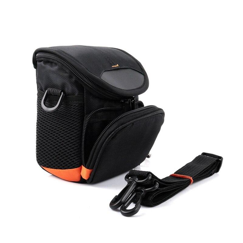 Bolso Mensajero Hombro//en Negro y Naranja para para Panasonic Lumix DMC-LX10LX15