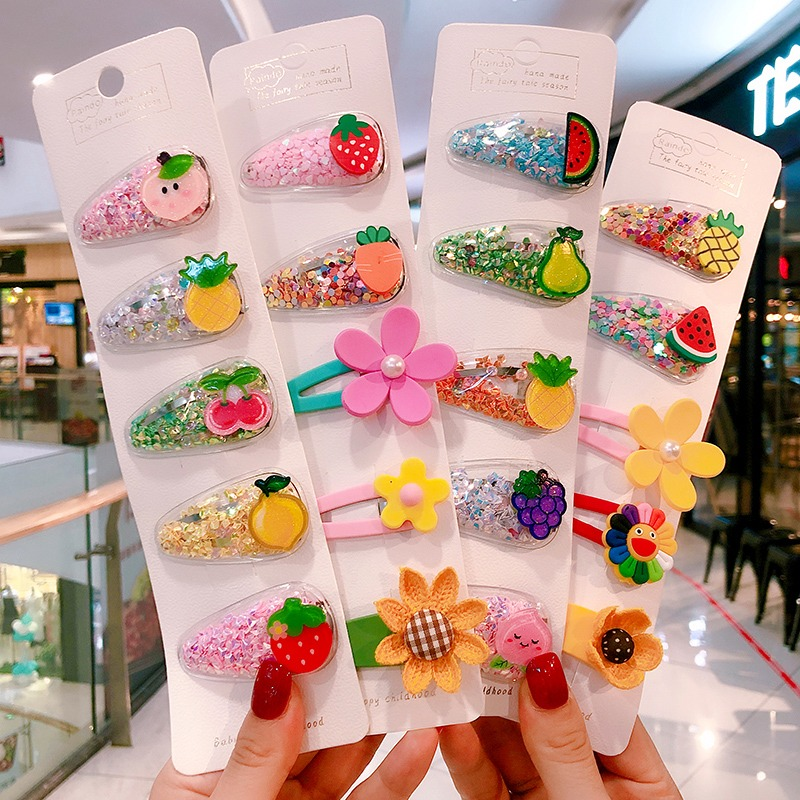 Kawaii Princess Fruit Hairpins Children Kids Hair Clips Pins Barrettes Accessories For title=