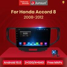 Junsun V1 2G + 32G Android 10.0 DSP autoradio multimédia lecteur vidéo pour Honda Accord 8 2008 - 2012 Navigation no 2 din autoradio