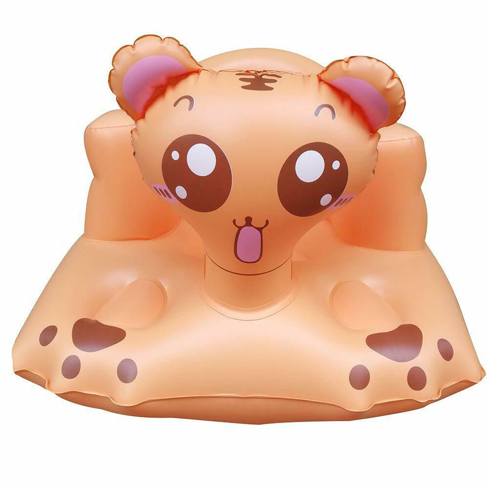 Outdoor Inflatable Sofa Multifunctional Cute Cartoon Sound Bath Stool Seat Portable Home Learn Dinner Chair For Babies Kids Play