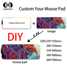 DIY Custom RGB Mouse Pad Gaming Mouse Pad Computer Mouse Pad Mousepad RGB Mousepad Gamer Mousepad Keyboard Pads USB Mause Mat цена 2017