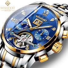 Wishdoit relógio suíço masculino mecânico automático oco relógio grande dial à prova dwaterproof água luminosa 2021 novo relógio de moda masculino luxo