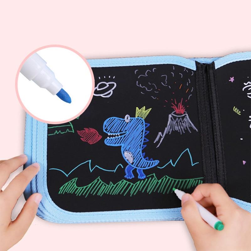 10PCS Magic Scrape Painting Toy Crayon Paper Color Paint Brain Education Gift CO