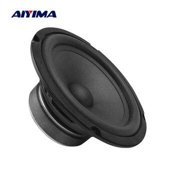 AIYIMA 6.5 Cal samochodowy głośnik basowy 2 Ohm 100W Max drzwi pojazdu muzyka Stereo pełny zakres częstotliwości Hifi średniotonowy głośnik niskotonowy
