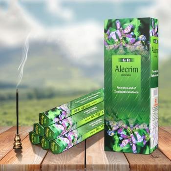 India incienso Alecrim incienso con aroma Stick caja grande ambientador aromaterapia interior...