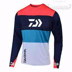 4 cores 2019 Novo Estilo de Homens Roupas De Pesca Daiwa Proteção UV Absorção de Umidade-secagem Rápida Respirável Camisas De Pesca