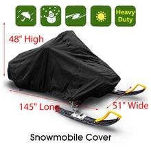 145 дюймов Trailerable водонепроницаемый открытый лыжный снегоход сани покрытие полное хранение полиэстер водонепроницаемое покрытие крышка