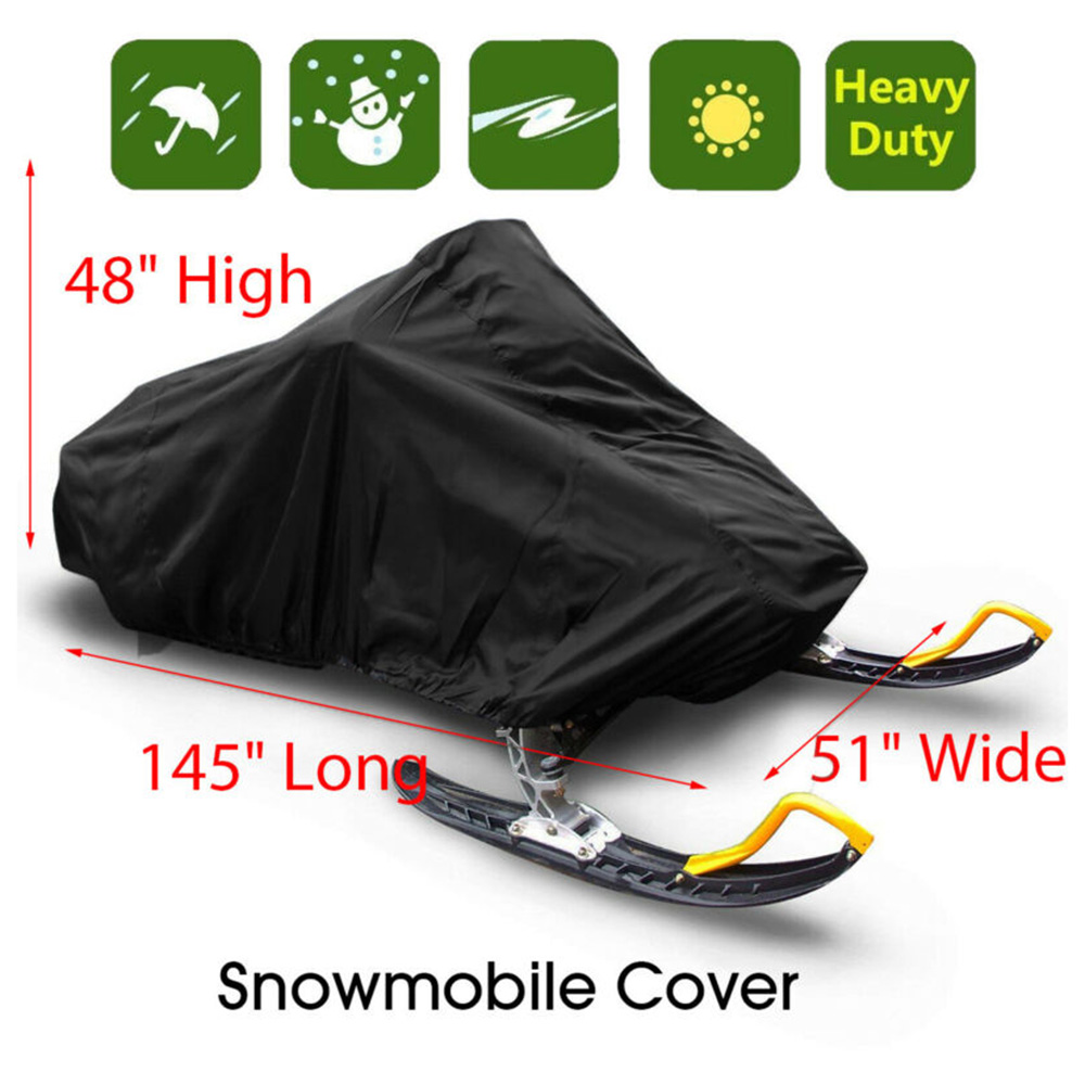 145 Inch Trailerable Waterproof Outdoor Ski Snowmobile Sled Cover Full Storage Polyester Waterproof Coating Cover