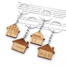 Mode Haus Schlüssel Kette Holz Keychain Einzugsgeschenk Neue Home-Taste Ring Dekoration Für Frauen Mädchen