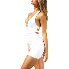 Summer Women Dress Sheath Sexy Solid Erotic Club Tight Sleeveless Off Shoulder H