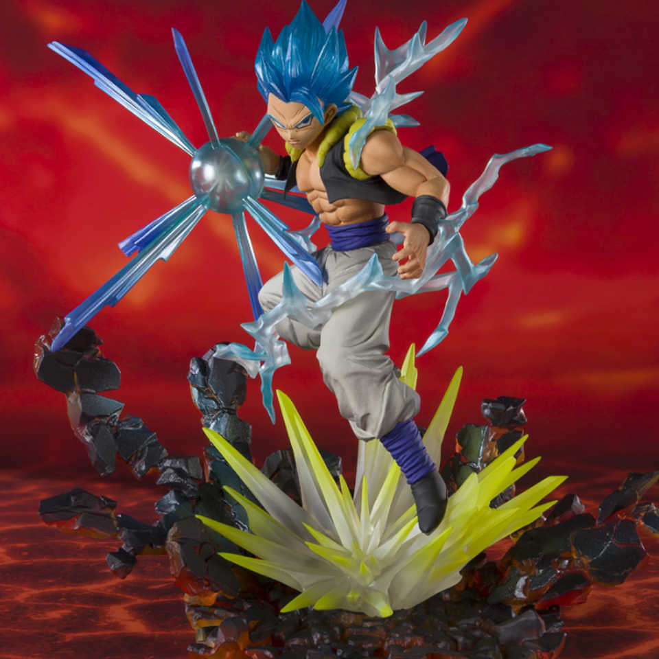 Tronzo Original Bandai Tamashii Nations SHF Dragon Ball Evento Exclusivo Zero EX Gogeta Goku SSJ Preto Rosa PVC Action Figure brinquedo