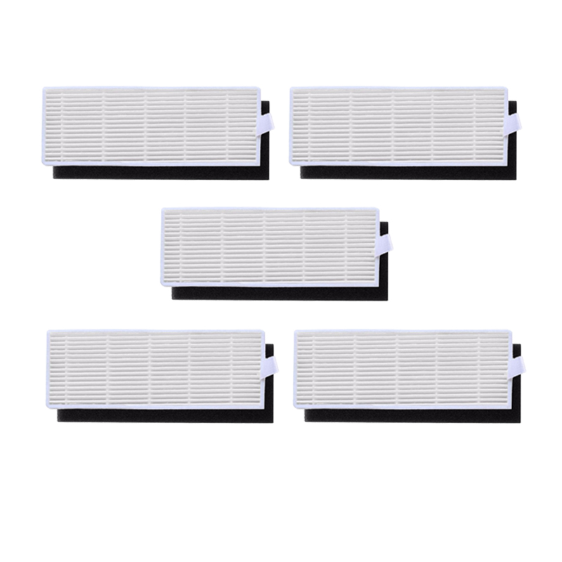 5 Sets Cleaning Filter For Polaris PVCR 0726w 0826 Robotic Vacuum Cleaner HEPA Filter Sponge Filters Accessories