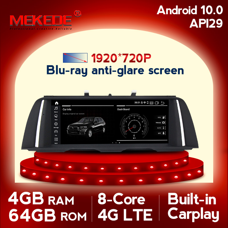 4G LTE android10.0 4G+64G 8cores car multimedia player gps navigation for BMW 5 Series F10/F11/520 (2011-2017) CIC/NBT MSM8953 image