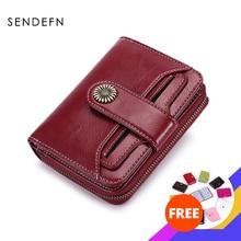 SENDEFN 트렌드 지갑 여성 여성 지갑 짧은 지갑 품질 동전 지갑 여성 단추 지갑 품질 꽃 하드웨어 5185H 75