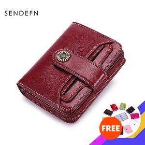 Image 1 - Кошелек SENDEFN Trend, женский кошелек, короткий кошелек, качественный кошелек с пуговицами, качественный кошелек с цветами, 5185H 75