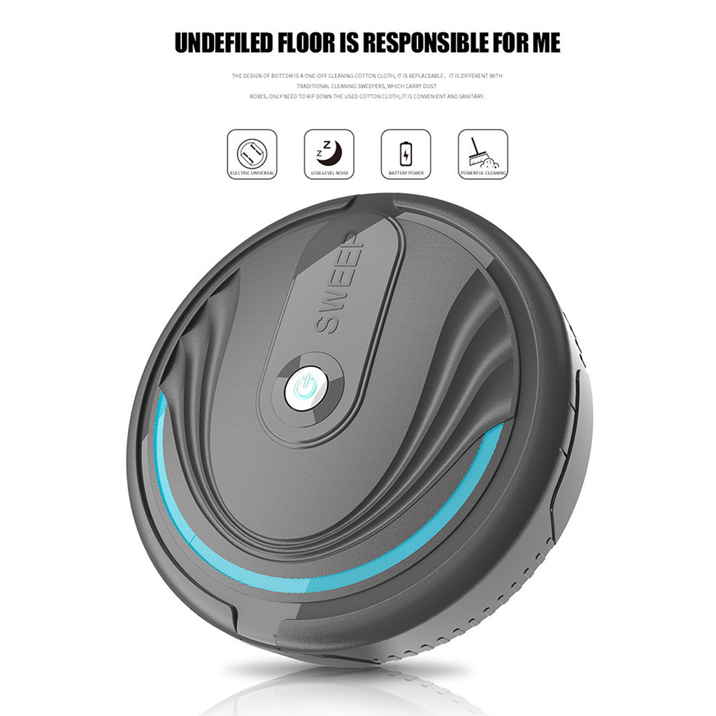 Robotic Vacuum Cleaner for home Full Automatic Mini Vacuuming Robot Household Appliances Sweeper Charging cable