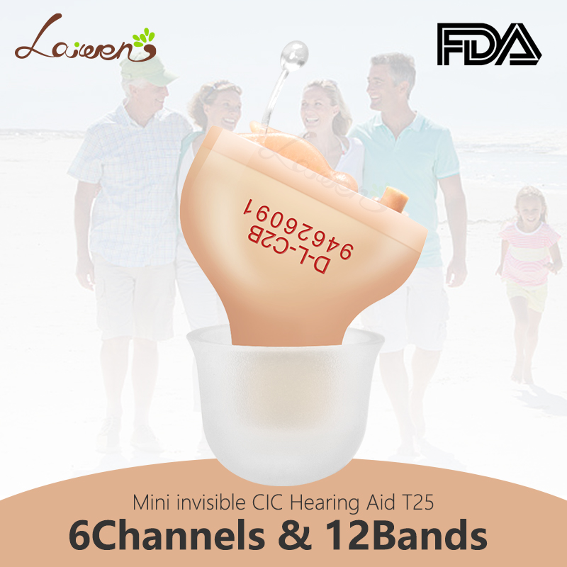 LaiwenT5 Best Hearing Aids Digital 6Channels 12Bands CIC Digital Hearing Aid Invisible Ear Sound Amplifier Dropshipping