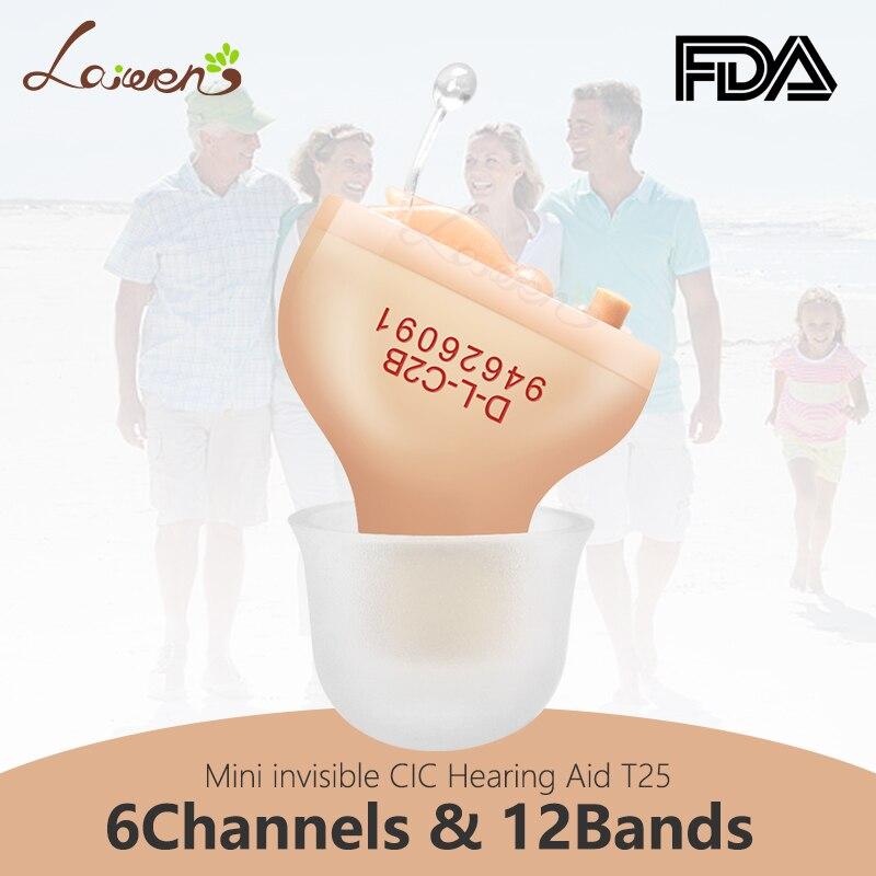 LaiwenT5 meilleures prothèses auditives numériques 6 canaux 12 bandes CIC aide auditive numérique Invisible oreille amplificateur sonore livraison directe