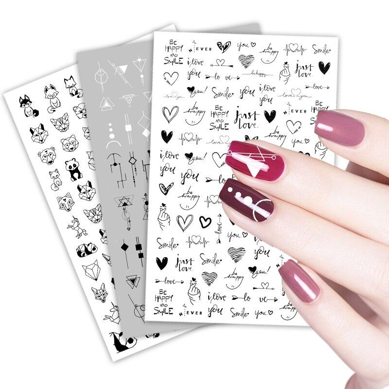 3D наклейки для ногтей цветы Для женщин уход за кожей лица эскиз абстрактные бабочка изображения сексуальная девушка Нейл арт Декор Ползунки Маникюр наклейки для ногтей - Топ товаров на Али в мае