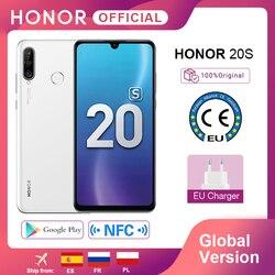 RUB10000-1200 Code:ALIPLUS1200 Новая глобальная версия Honor 20 S 20 S мобильные телефоны 6G 128G 6,15 ''Dewdrop экран 24MP фронтальная камера 48MP тройные камеры смартфон NFC