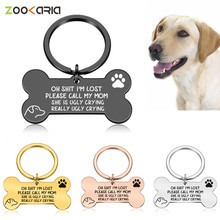 personalized pet id tag dog cat nameplate aluminum collar accessories free customized engraving tags Pet Dog Cat Collar Accessories Decoration Pet ID Dog Tags Collars Stainless Steel Cat Tag Customized Tag Free Engraving