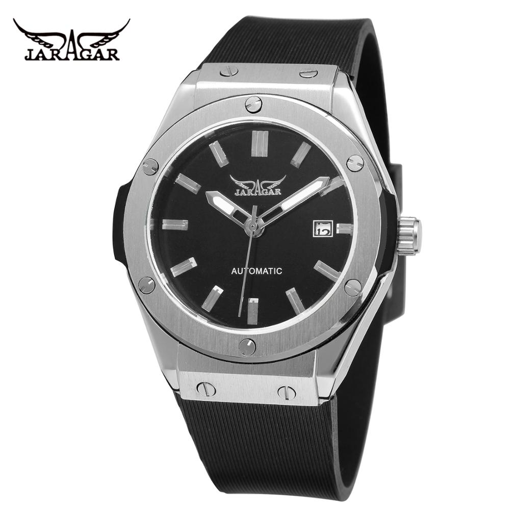 JARAGAR WATCH Fashion Simple Men's And Women's Wrist  Watches Waterproof Casual Silicone Strap Automatic Mechanical Watch