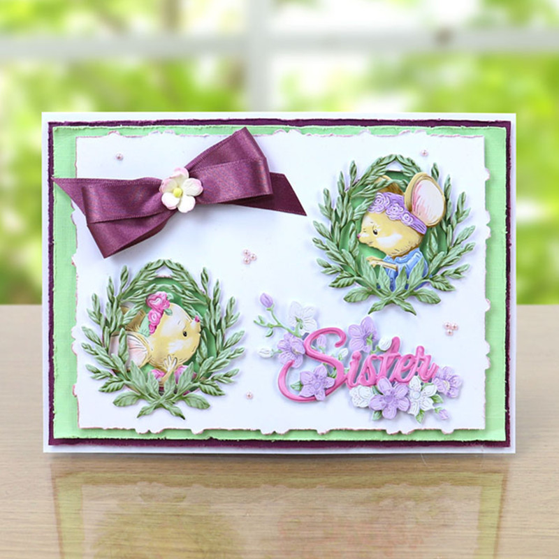 quot Yourself Enjoy quot Words Cup Mouse Metal Cutting dies 2019 new Craft Dies for Embossing Paper Card making Scrapbooking Decoration in Cutting Dies from Home amp Garden
