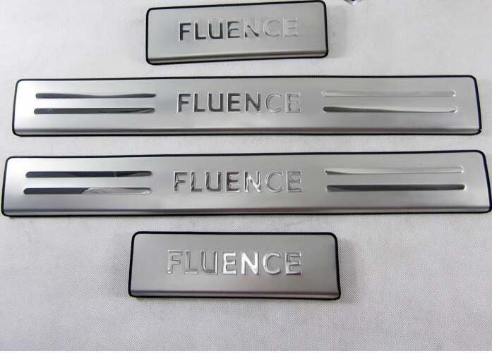 Hohe qualität edelstahl-verschleiss-platte/Tür-schwelle Protector Aufkleber Auto Styling Für 2010-2015 Renault Fluence 4 teile/satz