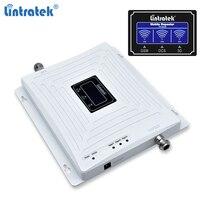 Lintratek 리피터 GSM 2G 3G 4G 신호 부스터 GSM 900 3G 2100 4G 1800 증폭기 리피터 900 1800 2100Mhz 트라이 밴드 Ampli