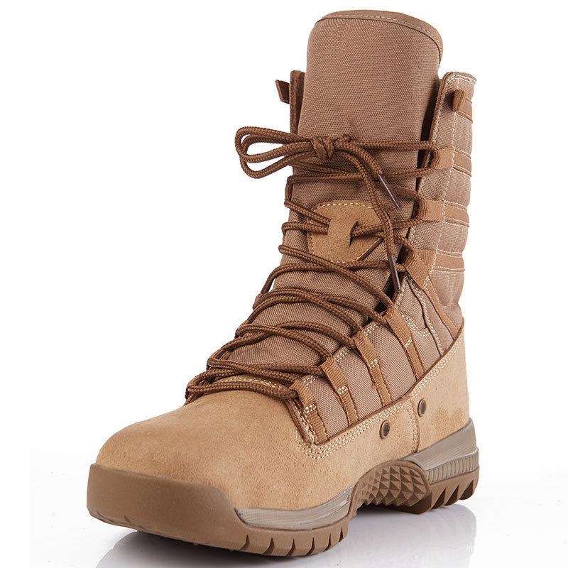 Hot Tactical Eu 38-46 High Tube Desert Boots Spring Anti-wear Waterproof Outdoor Hiking Shoes Women Fishing Hunting Sneakers Men