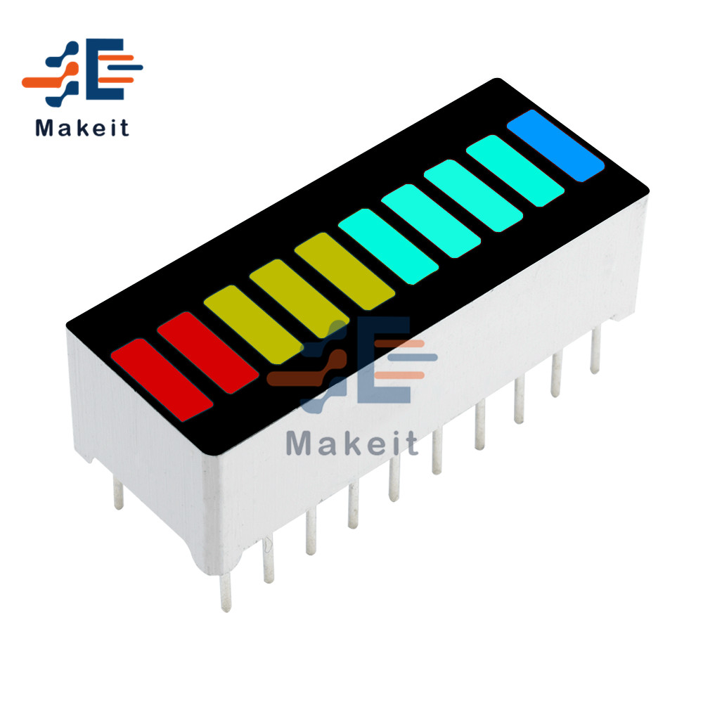 10 Segment Full Color LED Display Module Four Color Bargraph Light Ultra Bright Red Yellow Green Blue Colors