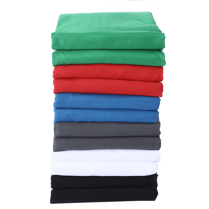 Hot Sale Green Color Cotton Non-pollutant Textile Muslin Photo Backgrounds Studio Photography Screen Chromakey Backdrop Cloth