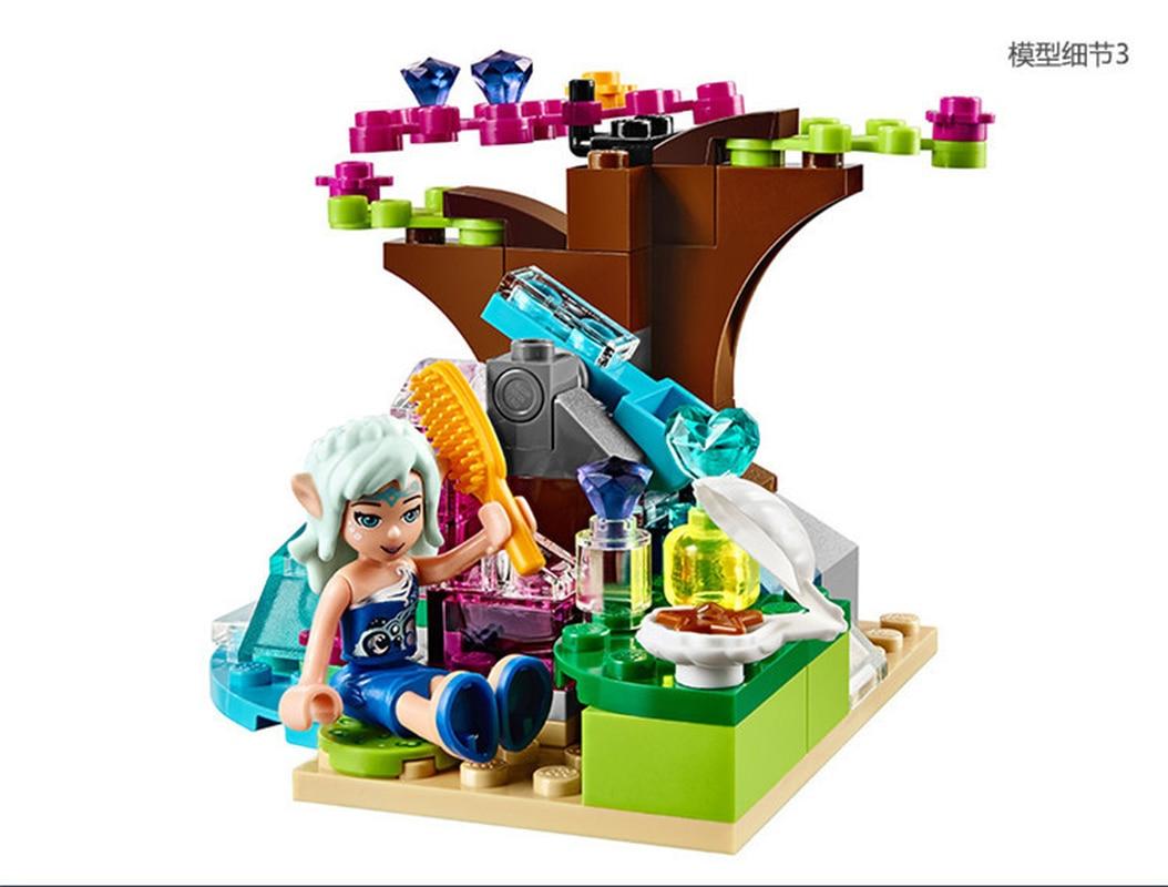 214PCS ผจญภัยมังกรน้ำ Building Blocks อิฐของเล่น DIY ใช้งานร่วมกับ Legoinglys เอลฟ์คริสต์มาสของขวัญ