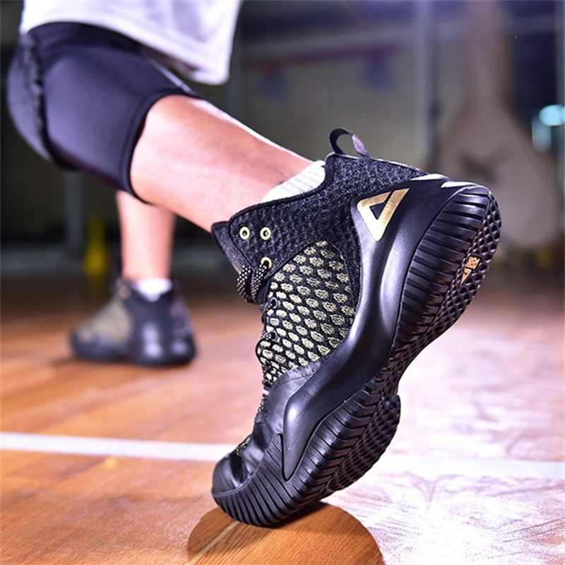 שיא גברים Streetball מאסטר כדורסל נעלי לנשימה ביש מניעת החלקה כדורסל סניקרס ריבאונד חדר כושר חיצוני ספורט נעליים
