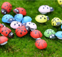 50 pcs Mini Cabochon Ladybug Fairy Garden Miniatures สวนตกแต่งภูมิทัศน์ Micro Bonsai Figurine (China)