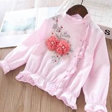 2020 frühling Mädchen der Dreidimensionale Perle Blume Blume Rand Hemd kinder Kleidung Großhandel