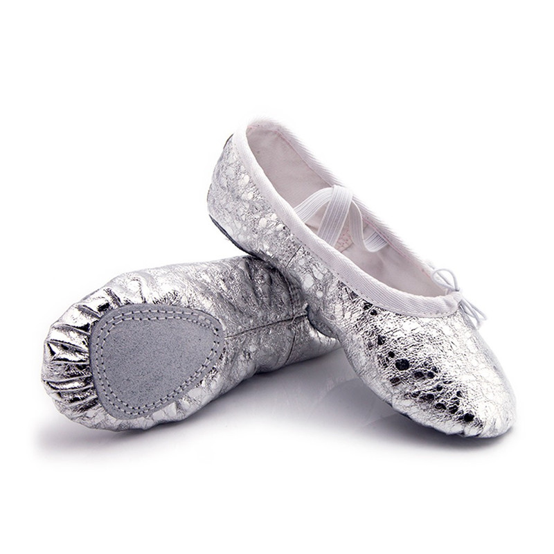 Female Soft Ballet Shoes Women Dance Shoes Pointed Slippers Gymnastics Flats Split Sole Shoes #2G29 (16)