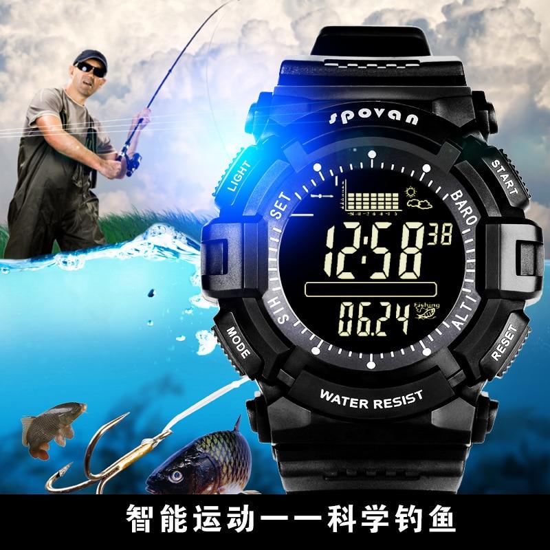 Relógio de Esportes ao ar Pressão de ar Equipamento de Pesca Livre Multifunções Altitude Inteligente Relógio Esportivo Masculino